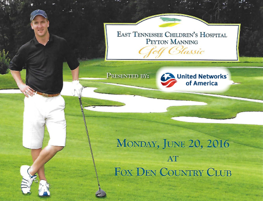 The 2015 Peyton Manning Golf Classic with the help of United Networks of America raised more than $166,000 for the East Tennessee Children's Hospital.